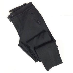 Ann Taylor LOFT Black Moto Skinny Pants Petite